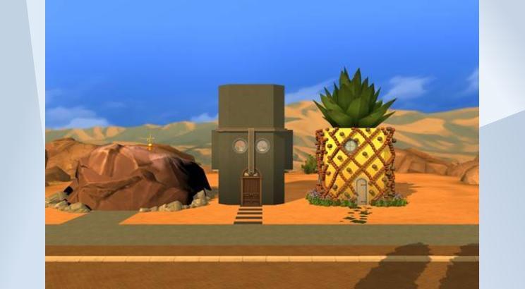 Casa de Bob Esponja para Los Sims 4