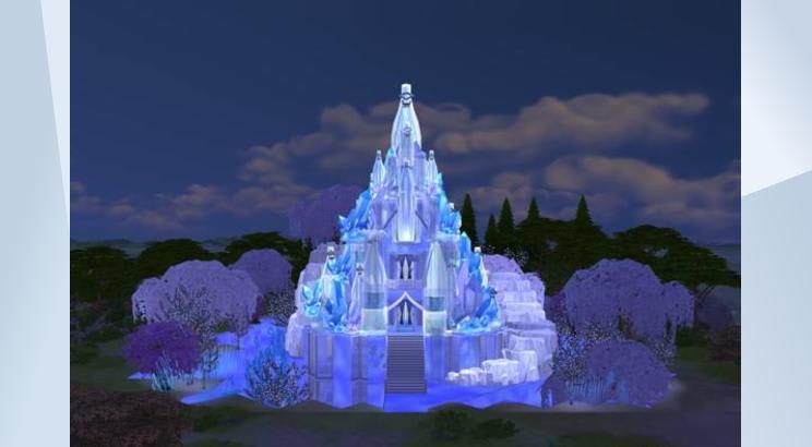 Castillo helado de Elsa (Frozen) para Los Sims 4