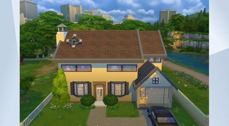 La casa de Los Simpson para Los Sims 4