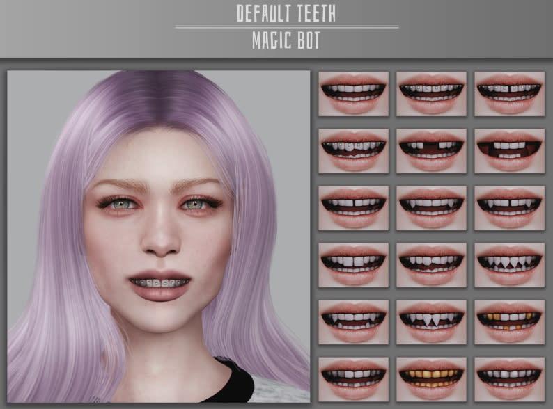 Los Sims 4 Default Teeth mod