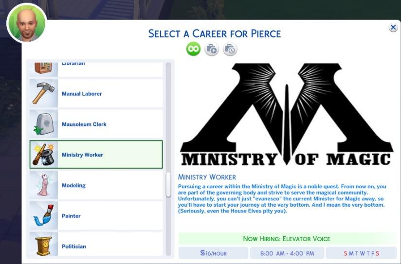 Carrera de Empleado del Ministerio de Magia
