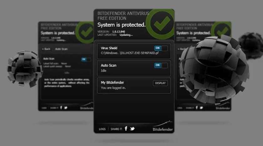 Interfaz de Bitdefender