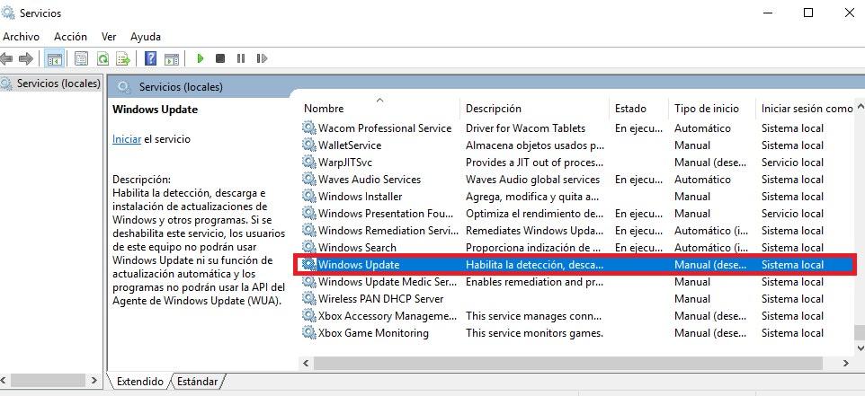 Solucionar error de Windows Update
