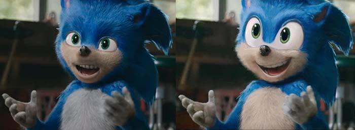 Sonic redesign