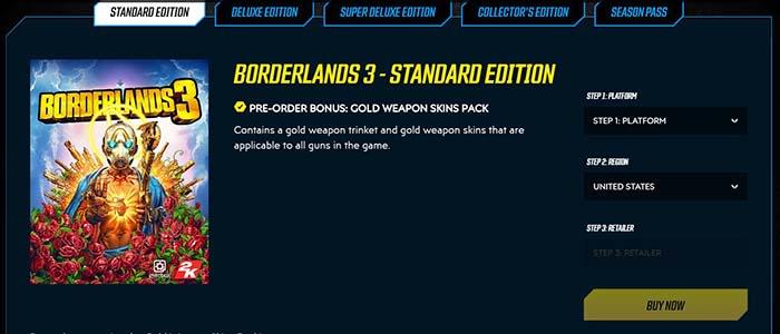 Borderlands 3 preorder