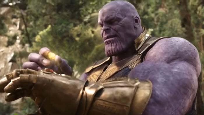 Thanos with Mind Stone