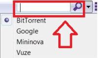 Barra de búsquedas de uTorrent