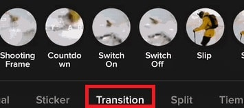 Transiciones en Tik Tok