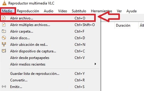 Cómo abrir un archivo con VLC