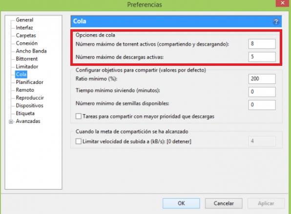 Configurar uTorrent