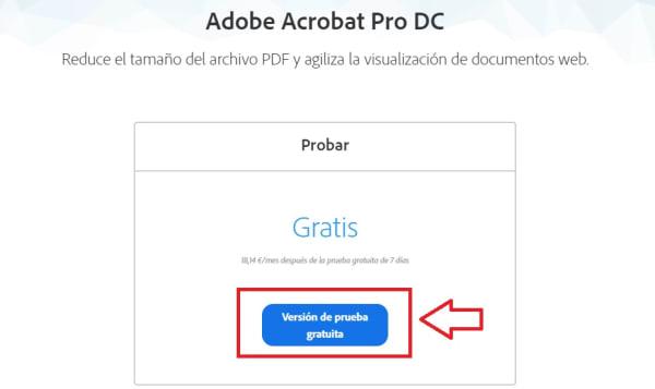 Prueba gratuita de Adobe Acrobat DC Pro