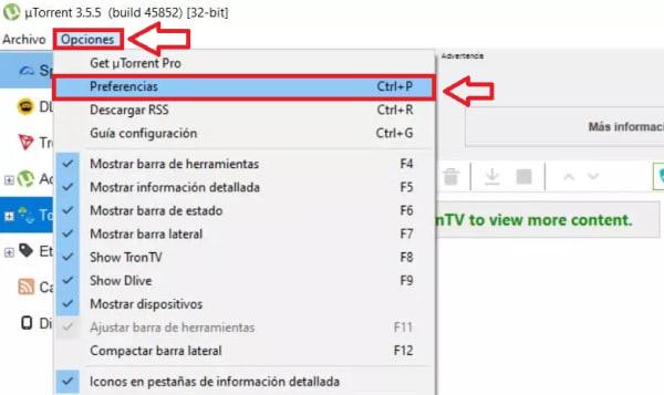 Cómo configurar uTorrent