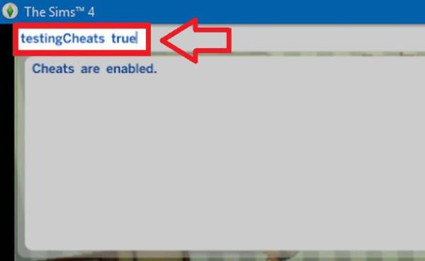 Consola de comandos de Los Sims 4