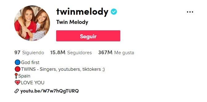 Twin Melody en Tik Tok