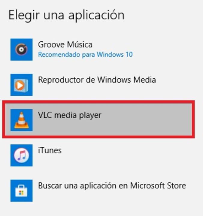 Elegir una aplicación predeterminada en Windows 10