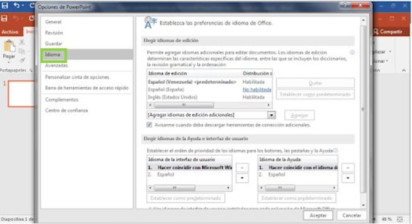 Cómo cambiar el idioma de Microsoft PowerPoint