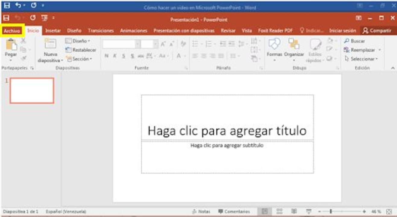 Cómo hacer un video en Microsoft PowerPoint