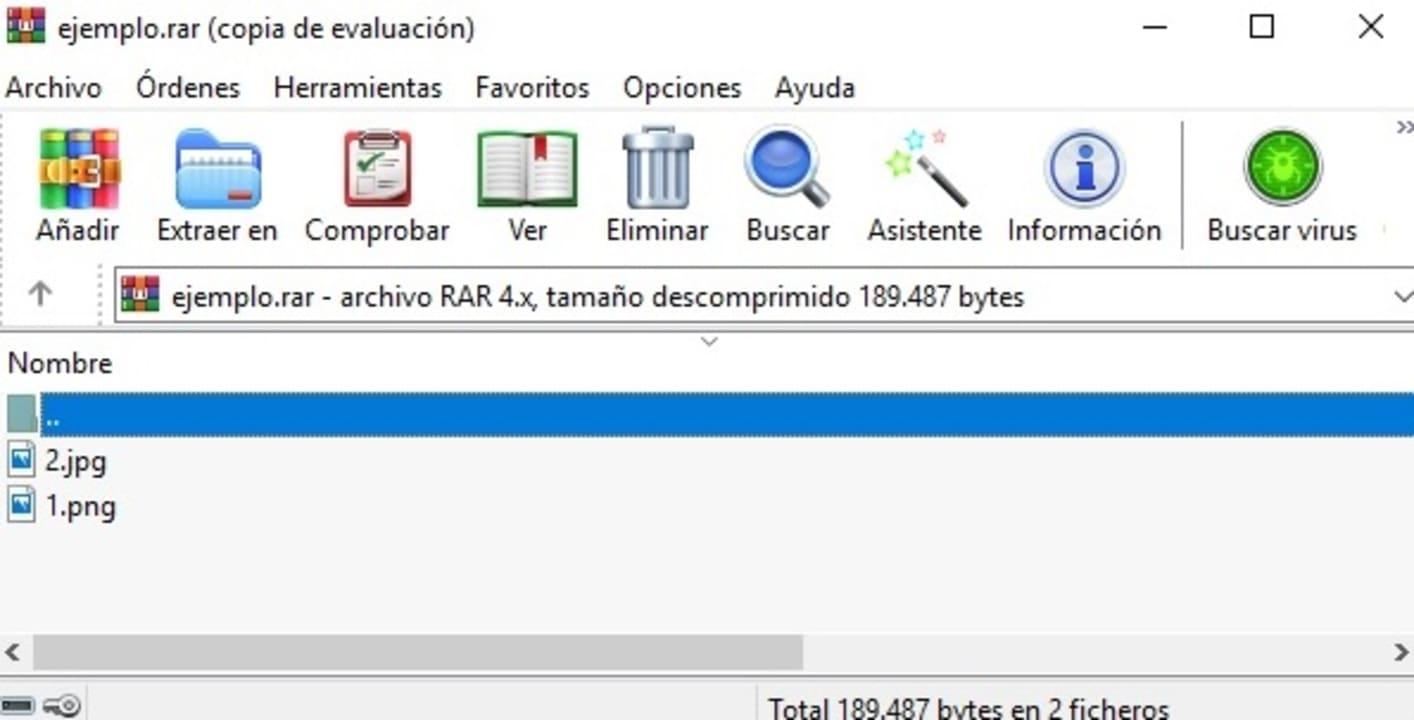 Abrir un archivo en WinRAR