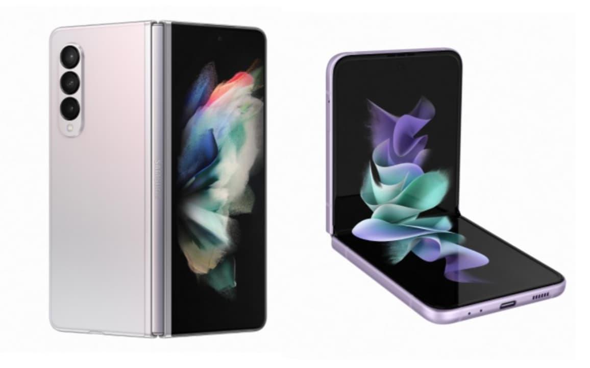 Samsung Galaxy Z Fold3 5G y Samsung Galaxy Z Flip3 5G.