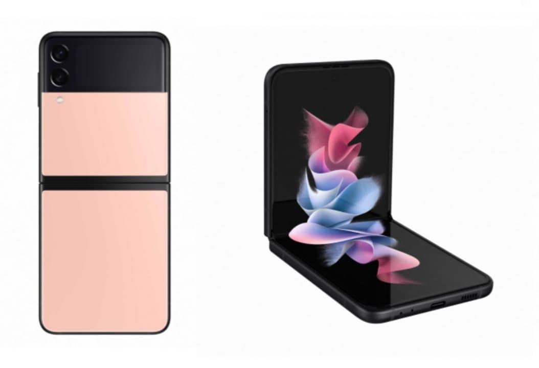 Samsung Galaxy Z Flip3 5G con color exclusivo rosa.