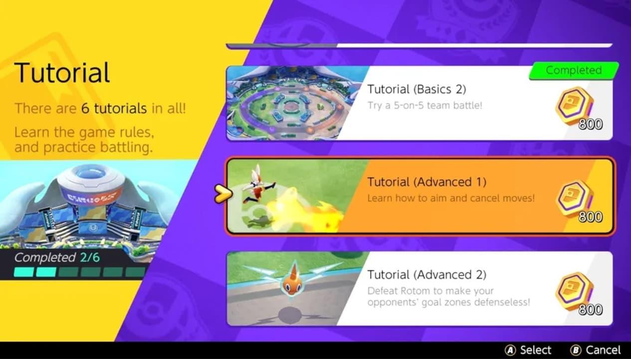 Tutoriales de Pokémon Unite