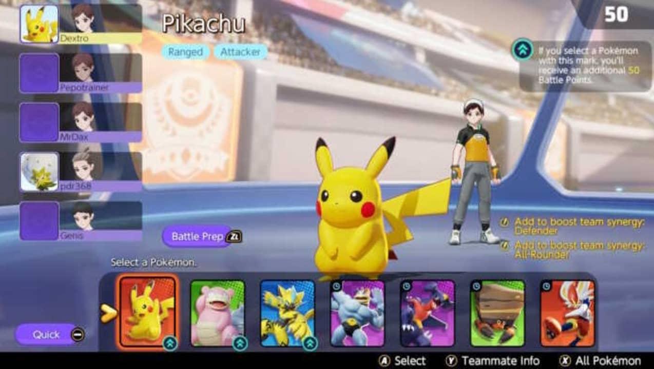 Combates en Pokémon Unite