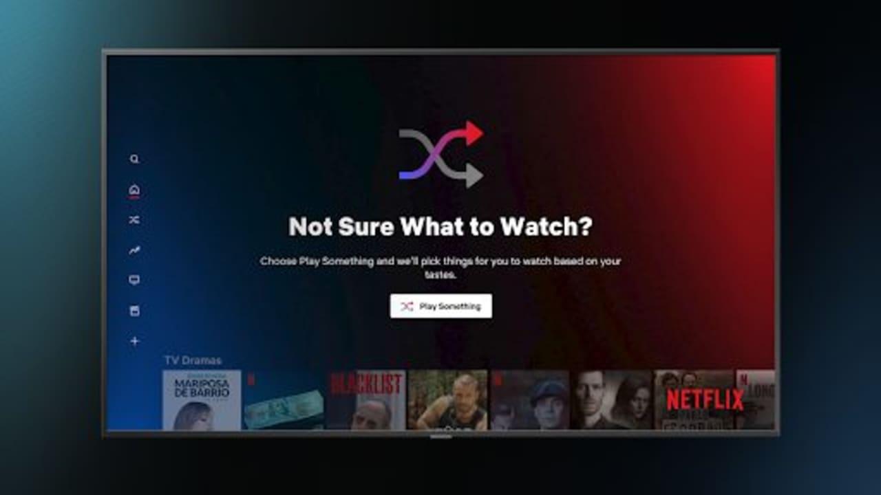 "Netflix Shuffle Feature ""Play Something"""