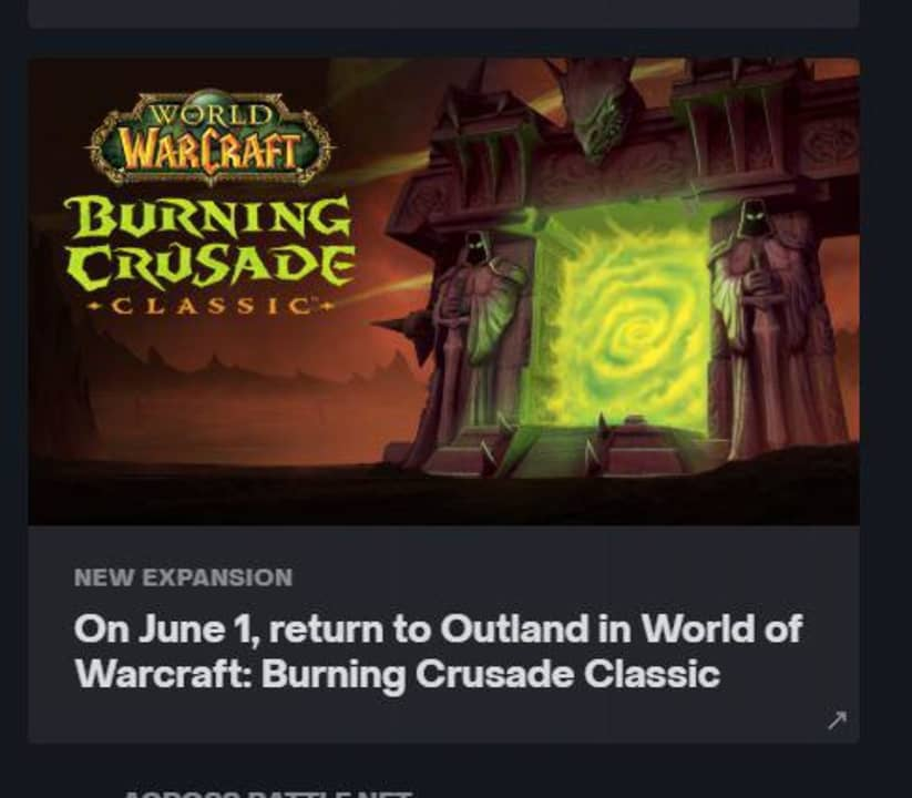 World of Warcraft: The Burning Crusade Classic Release Date Leaked
