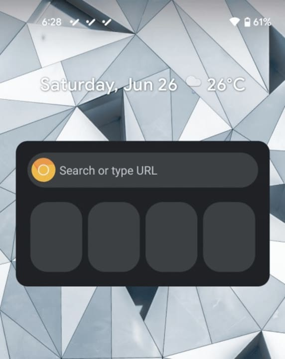 Google Chrome Search Widget Announced for Android
