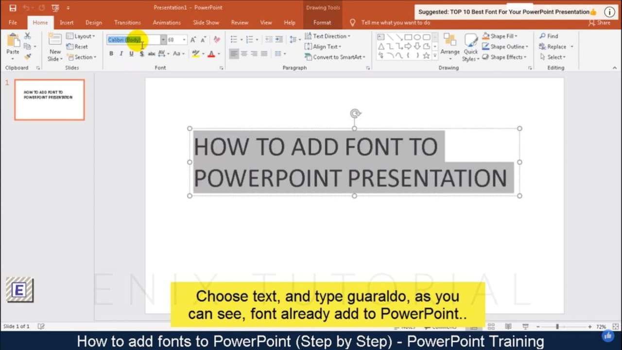 How to Add Fonts to Microsoft PowerPoint