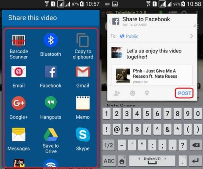 How to Share Videos on TubeMate
